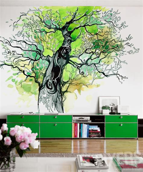 tree of wall mural tree of wall mural inspirations pixersize