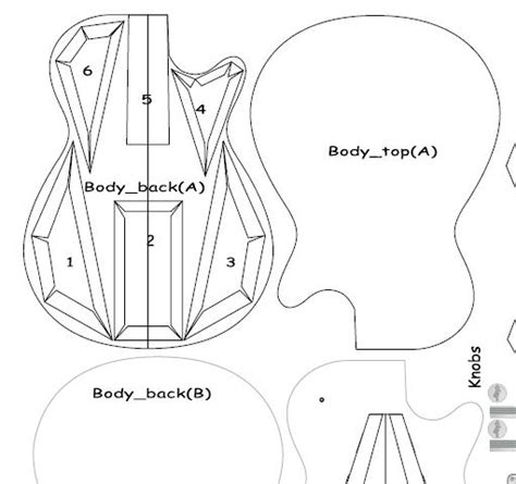 Make A Paper Guitar - how to draw guitar template