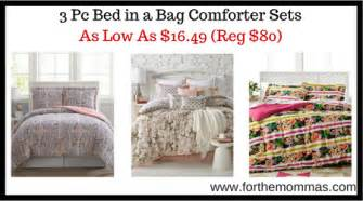 macy s bed in a bag sale macy s 3 pc bed in a bag comforter sets as low as 16 49