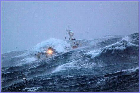 fishing ship in storm pic a fishing ship caught in the middle of a storm