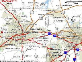 winston salem carolina map