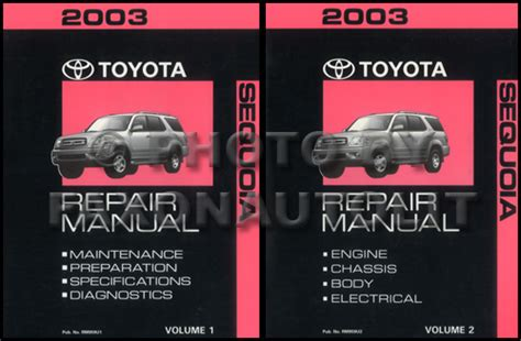service manual manual repair autos 2003 toyota sequoia electronic toll collection service 2003 toyota sequoia repair shop manual original set