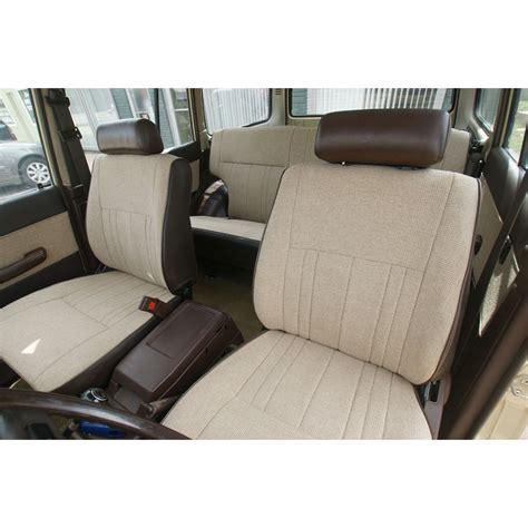 seat upholstery kits fj60 fj62 seat covers front rear kit fj60 62 brown