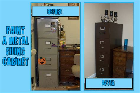 how to paint a metal file cabinet make do i painted a metal filing cabinet and you can too