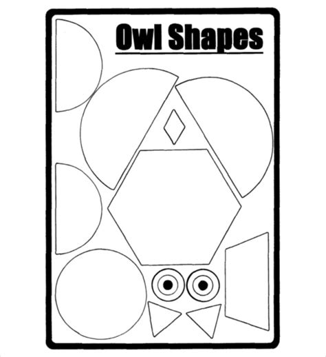printable owl shapes owl template animal templates free premium templates