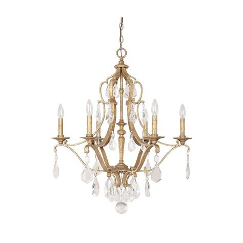 Antique Gold Chandelier Capital Lighting Fixture Company Blakely Antique Gold Six Light Chandelier With Crystals On Sale
