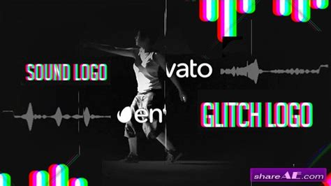 Videohive Sound Glitch Logo Reveal After Effects Templates 187 Free After Effects Templates Free After Effects Template Glitch Intro
