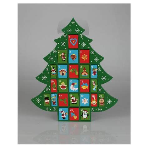 wooden christmas tree advent calendar 163 15 tesco direct