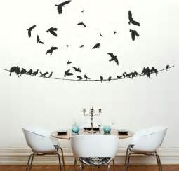 Wall Decals Stickers Birds On A Powerline