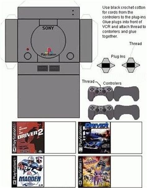 Playstation Papercraft - 1000 images about printies appliances etc on