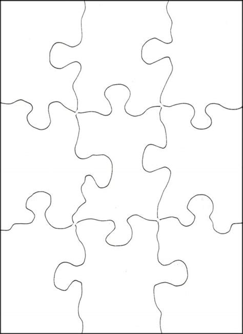 8 best images of printable blank jigsaw puzzles