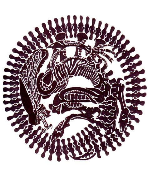 tribal xenomorph tattoo by lu da chris on deviantart tattoos