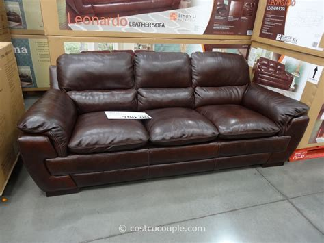 loveseat costco simon li leonardo leather sofa