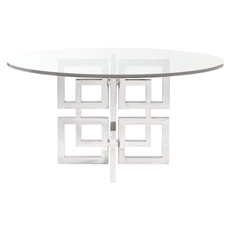 Glass Stainless Steel Dining Table Mercer Glass Stainless Steel Dining Table Kathy Kuo Home