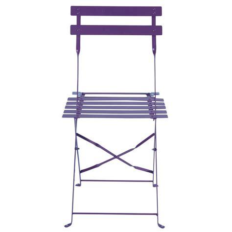 purple metal folding chairs 2 metal folding garden chairs in purple confetti maisons