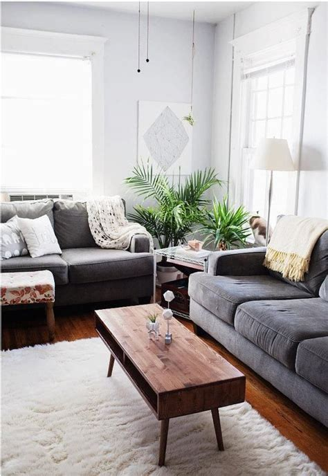 mid century modern coffee table living room decor