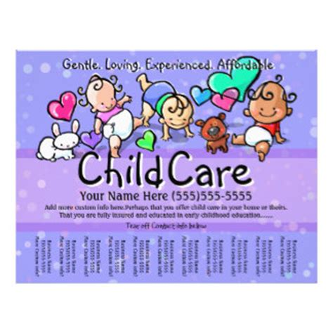 free templates for caign posters day care flyers programs zazzle
