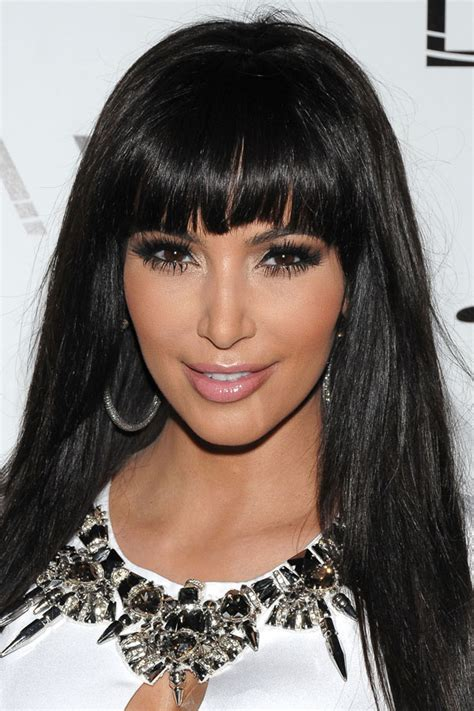 hairstyles for ugly bangs kim kardashian sexy fringe 20 best celebrity hairstyles