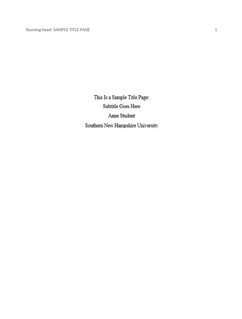 apa format title page exle sop exles
