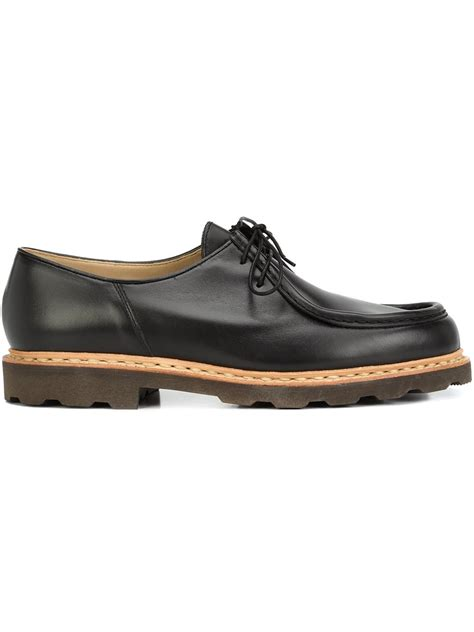 chunky oxford shoes lemaire chunky sole oxford shoes in black for lyst