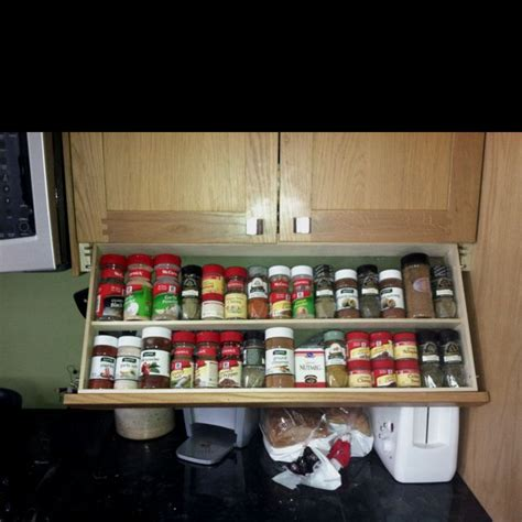 Under The Cabinet Spice Rack Pin By Tina Shelton On Diy Pinterest