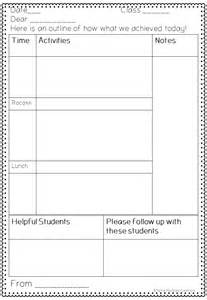 sub lesson plan template a note for the sub plan template sub plans and