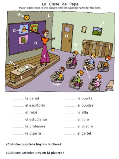 Classroom Worksheets by All Worksheets 187 Classroom Objects Worksheets Pdf