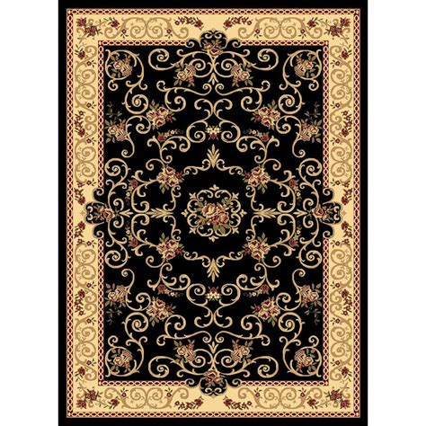 black throw rug shop rugs america new vision souvanerie black rectangular indoor woven throw rug common 2 x 3