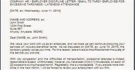 warning letter template for late coming every bit of warning letter to employee for late coming