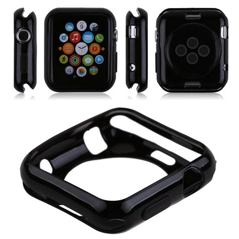 Tpu Slim Casing Cover Silicone Apple 42 Mm slim silicone gel tpu cover for apple 38mm 42mm iwatch sport edition ebay