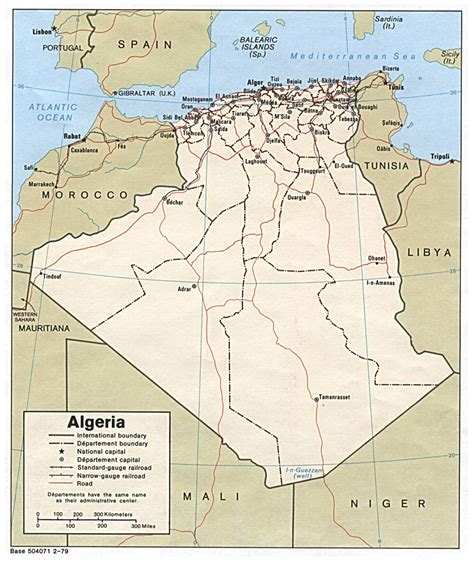 map of algeria cities detailed road and administrative map of algeria with