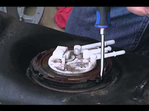 how do you replace a fuel pump and filter on 1991 chevy removing an old fuel pump youtube