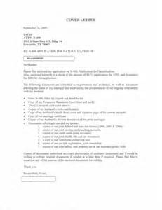 i 485 cover letter sle cover letter green card application cover letter sle