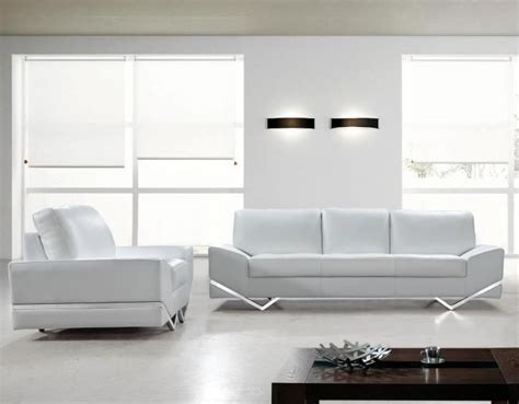 0744 White Leather Sofa And Chair S3net Sectional White Sofa Chair