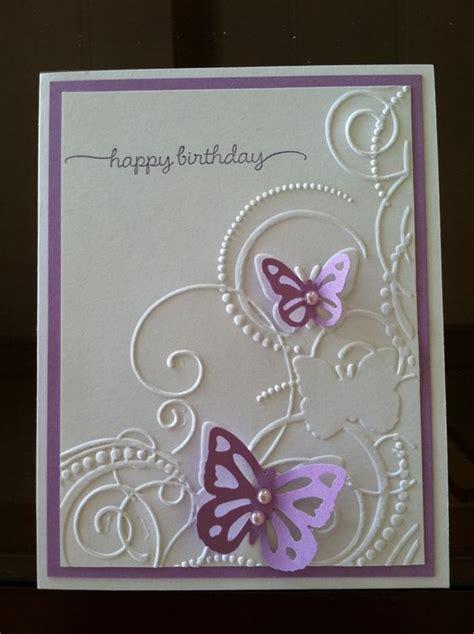 Embossed Birthday Card Ideas Darice Embossing Folder Butterfly Swirls Birthday Card