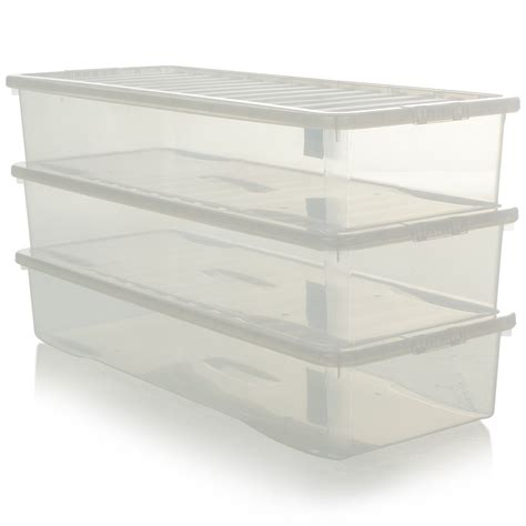 under bed storage boxes buy extra long and shallow plastic storage box perfect for