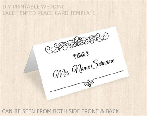 wilton template name cards printable wedding place card template name place card