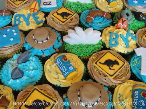 Handmade Decorations Australia - cupcakes australian themed cupcakes for a leaving