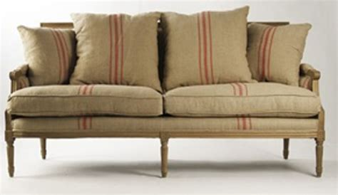 Red Stripe Farmhouse Sofa Our New Living Room Ideas