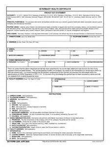 Veterinary Health Certificate Template Animal Health Certificate Form 2 Free Templates In Pdf