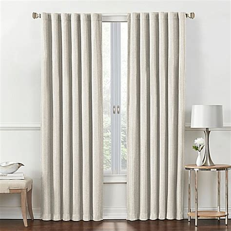 tab room buy rockwell 63 inch rod pocket back tab room darkening window curtain panel in ivory from bed