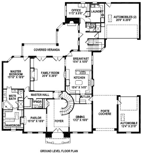 floor plan porte cochere build