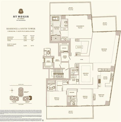 House Plans In Law Suite St Regis Bal Harbour Condo Hotel One Sotheby S