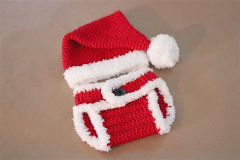 christmas pattern diapers crochet santa hat and diaper cover repeat crafter me