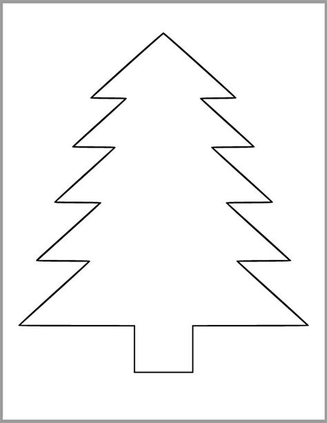 christmas tree patterns to cut out 9 inch pine tree template printable pine tree cutout etsy