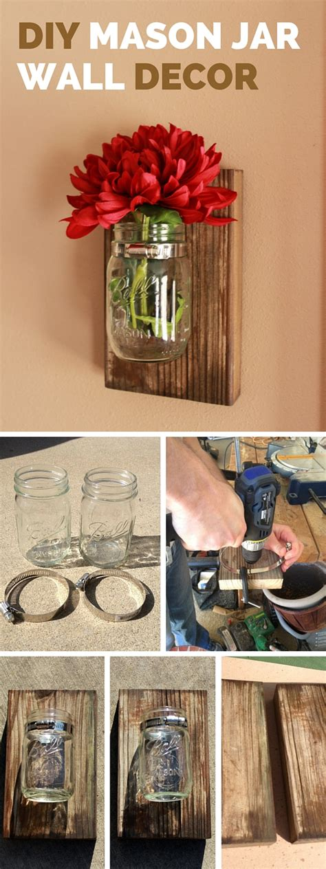 home decor tutorial diy mason jar wall decor