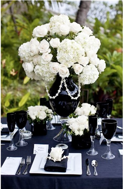 Black Vase Centerpiece Wedding by From The Tux To The Dress Inspiration Floral Centerpieces