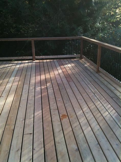 Black Metal Spindles For Decking Cedar Deck And Railing With Black Metal Balusters Yelp