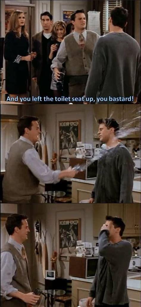 Friends Tv Show Memes - friends scene bastard toilet memes comics
