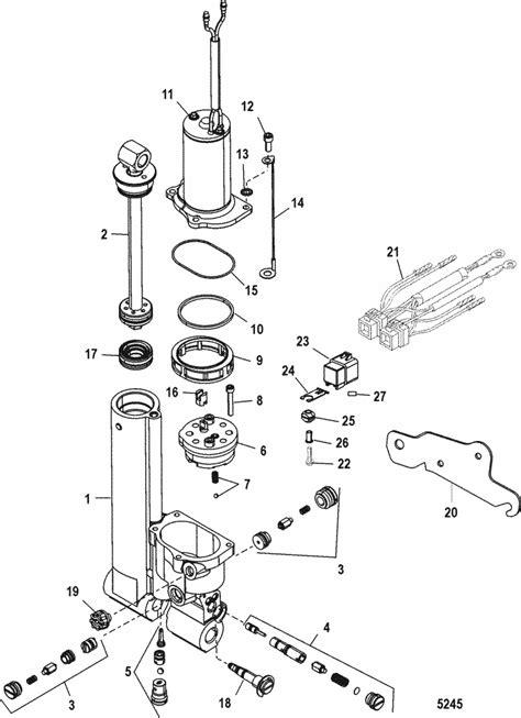 Mercury Marine 40 HP (2 Cylinder) Power Trim Parts